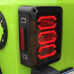 Jeep jk wrangler 2007-2017 led smoke black taillights