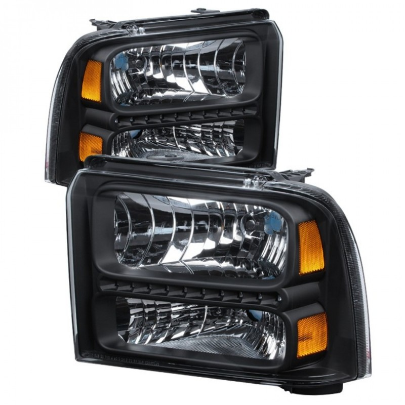 2005 350 Super Duty Led Drl Black Headlights