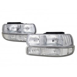 1999-2002 CHEVY SILVERADO TAHOE CHROME HEADLIGHTS COMBO