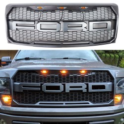 2015-2017 Ford F150 Raptor Style  Grille with led amber lights