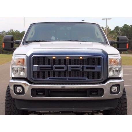 Ford F250/350 Super duty raptor style grille 2011-2016 with led lights amber