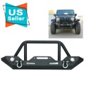 Jeep Jk Wrangler front bumper 2007-2017 with led lights built in