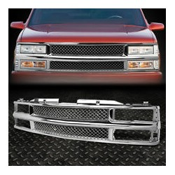 1994-1998 CHEVY CK PU TAHOE SUBURBAN FRONT CHROME MESH ABS GRILLE SHELL