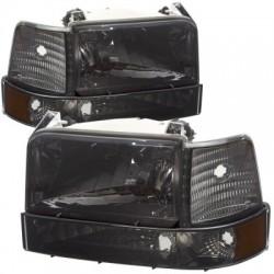 Ford F 150 1992-1997 bronco f250 smoke combo headlights 6pc kit