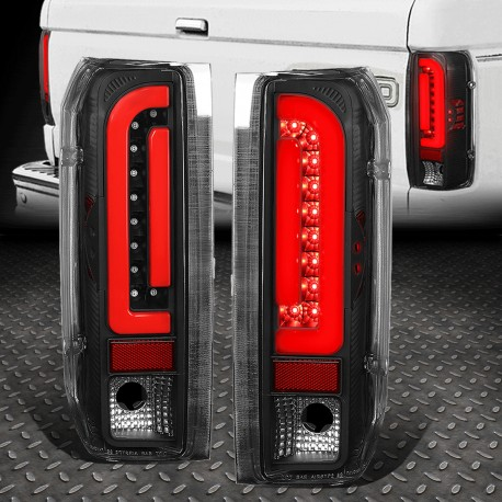Ford Bronco 1989-1997 f150/f250 led black housing taillights