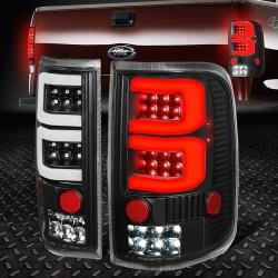 2004-2008 ford f150 dual c bar black housing led taillights