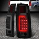 1988-1999 chevy 1500 pick up tahoe suburban gmc yukon sierra smoke led c bar taillights