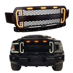 2018-2019 Ford F150 Rpator style grille with drl switchback led lights