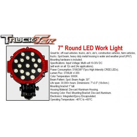 "7"" Round LED Work Lights"