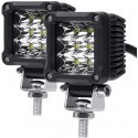 LED 2X2 POD LIGHTS WHITE 6000K 18 WATTS 3000 LUMENS EACH
