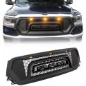 2019-2020 Dodge Ram 1500 Rebel style grille with amber led lights replacement shell