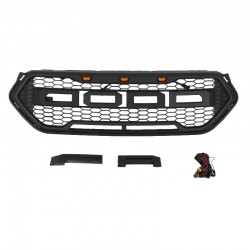 2016-2018 FORD ESCAPE RAPTOR STYLE GRILLE WITH AMBER DRL LIGHTS