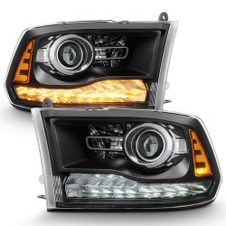 2009-2018 DODGE RAM 1500/2500 PROJECTOR HEADLIGHTS WITH DRL SWITCHBACK