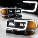 1999-2006 GMC SIERRA C BAR HALO BLACK AMBER SMOKE  HOUSING