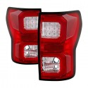 2007-2013 TOYOTA TUNDRA DUAL C BAR RED CLEAR TAILLIGHTS