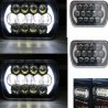 7x6/5x7 led black housing headlights with drl 105 watts pair