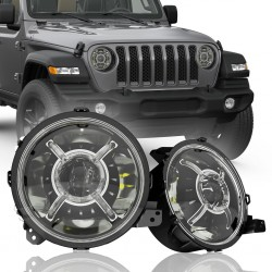 JEEP JL WRANGLER 2018-2020 LED HEADLIGHTS WITH HALO RING 9""