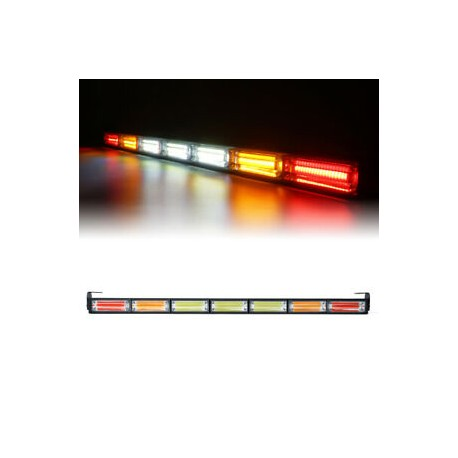 """LED COBB 30""""CHASE LIGHTS RED AMBER WHITE WITH STROBE MODUAL"""