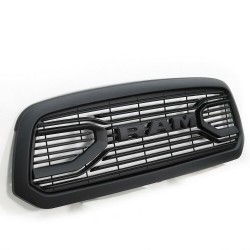 2009-2012 DODGE RAM GRILLE WITH LOGO MATT BLACK REPLACEMENT