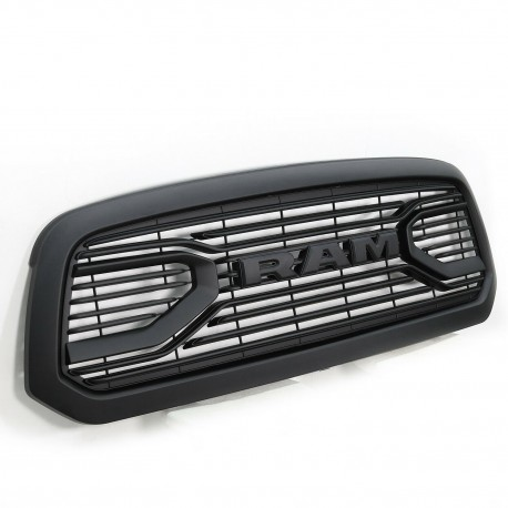 2013-2018 DODGE RAM GRILLE WITH LOGO MATT BLACK REPLACEMENT