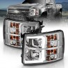2007-2013 CHEVY SILVERADO 1500/2500 CHROME C BAR HALO PROJECTORS HEADLIGHTS