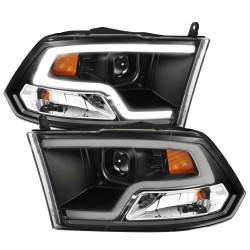 2009-2018 dodge ram 1500/2500 version 2 black headlights drl projectors