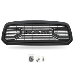 2013-2018 DODGE RAM GRILLE WITH LOGO MATT BLACK REPLACEMENT 1500 model only