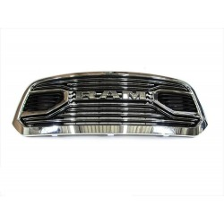 2013-2018 DODGE RAM 1500  GRILLE WITH LOGO CHROME REPLACEMENT BIG HORN STYLE