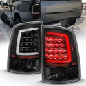 2009-2018 dodge ram 1500/2500 version 2 black c bar taillights