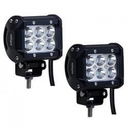 Cree 18 Watts 2X3 Led Pair Work Lights 6 Leds 1260 Lumens
