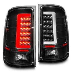2007-2013 GMC SIERRA 1500/2500 BLACK HOUSING C BAR HALO V2 LED TAILLIGHTS