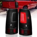 2003-2006 CHEVY SILVERADO C BAR LED BLACK SMOKE  TAILLIGHTS 1500/2500/GMC SIERRA