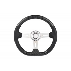 UNIVERSAL STEERING WHEEL D SHAPE 350MM CARBONFIBER ABS COVER 6 HOLE