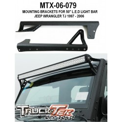 "Windshield bracket 50""Light Bar 1997-06 Jeep TJ Wrangler"
