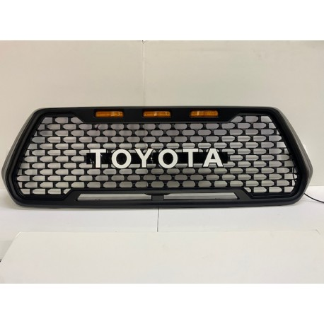 TOYOTA TACOMA 2016-2020  STYLE GRILLE WITH LOGO WHITE MESH STYLE