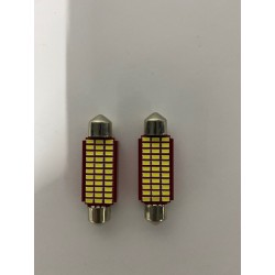 LED DOME LIGHTS 42MM 6500K CANBUS 24 SMDS INTERIOR LIGHTING PAIR