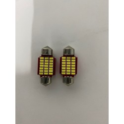 LED DOME LIGHTS 31MM WHITE 6500K HIGH POWER CANBUS PAIR INTERIOR BULBS 24 SMDS