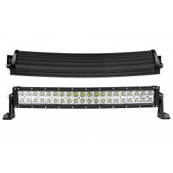 "22.5"" Cree Led Curved Double Row 40 Led Light Bars 8400 Lumens 6000K Combo Spot/Flood"