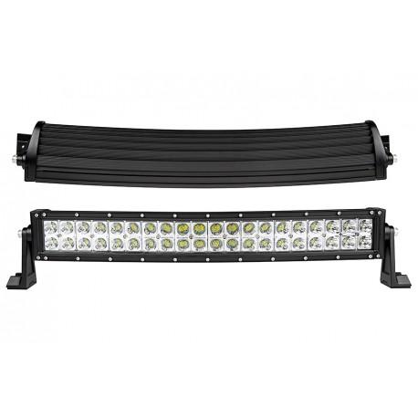 "22.5"" Cree Led Curved Double Row 40 Led Light Bars 8400 Lumens 6000K Combo Spot/Flood"