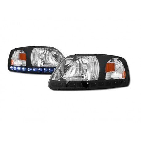 1pc Headlamps  Black/Amber 1997-03 Ford F150/Expedition