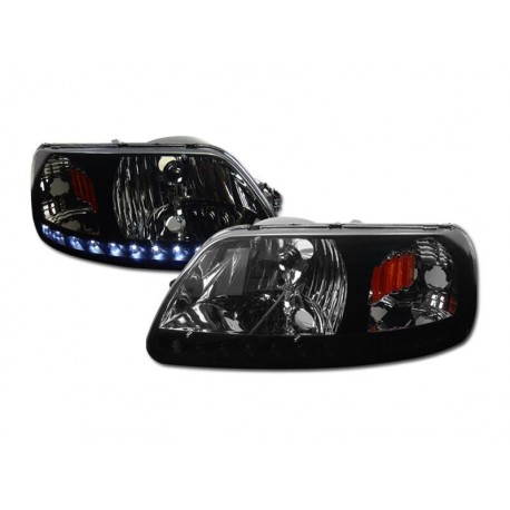 1pc Headlamps Led Smoke 1997-2003 Ford F150/Expedition