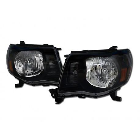 Diamond Black Clear Headlamps  2005-10 Toyota Tacoma