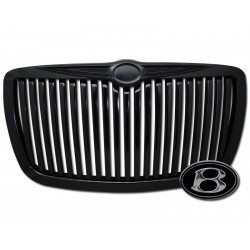 Black Vertical 2005-2010 Chrysler 300C /300 Replacement Grille Shell ABS