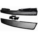 Black 2pc  Mesh Grille 2007-2012 Chevy Tahoe Avalanche Suburban ABS Insert