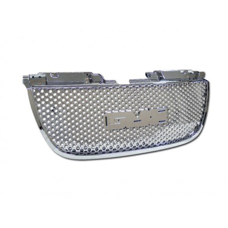 Chrome Round Hole 2007-12 GMC Yukon Sub Denali Style Replacement ABS Grille Shell