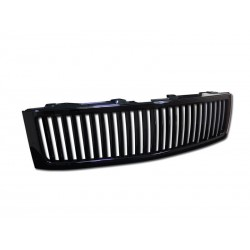 Black  Vertical 2007-10 Chevy Silverado Grille Replacement Shell