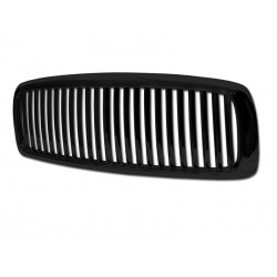 Black Vertical 2002 - 2005 Dodge Ram Lincoln Style Grille Shell Replacement