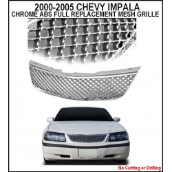 ABS Chrome Mesh 2000 - 2005 Chevy Impala Replacement Grille Shell