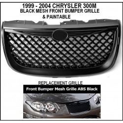 Black Mesh Grille 1999 - 2004 Chrysler 300M Replacement Shell ABS