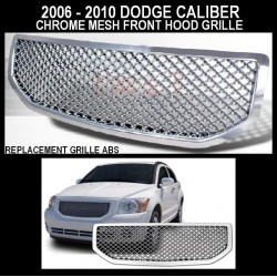 Chrome ABS Mesh 2006 - 2010 Dodge Caliber Replacement Grille Shell